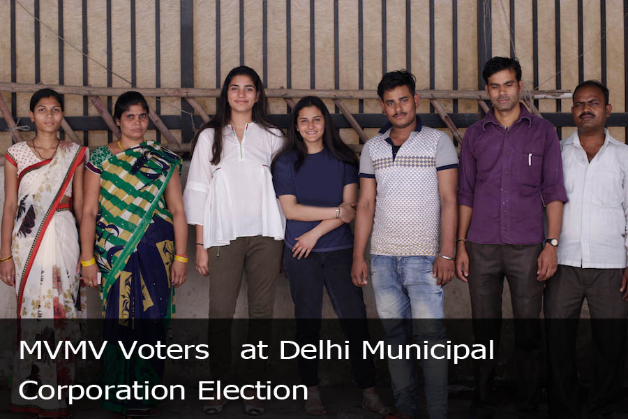 MVMV Voters at Delhi Municipal Corporation Election-2