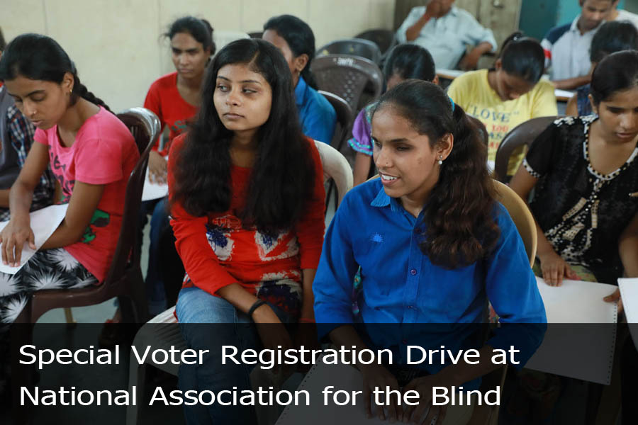 Special Voter Registration Drive at National Association for the Blind-1