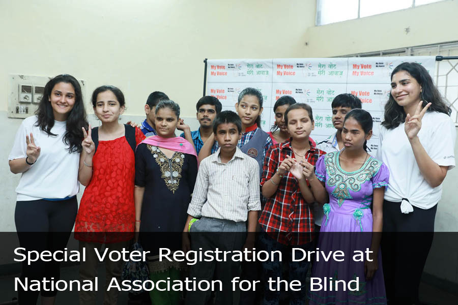 Special Voter Registration Drive at National Association for the Blind-2