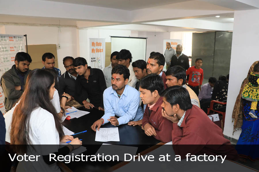 Voter Registration Drive at a factory-1