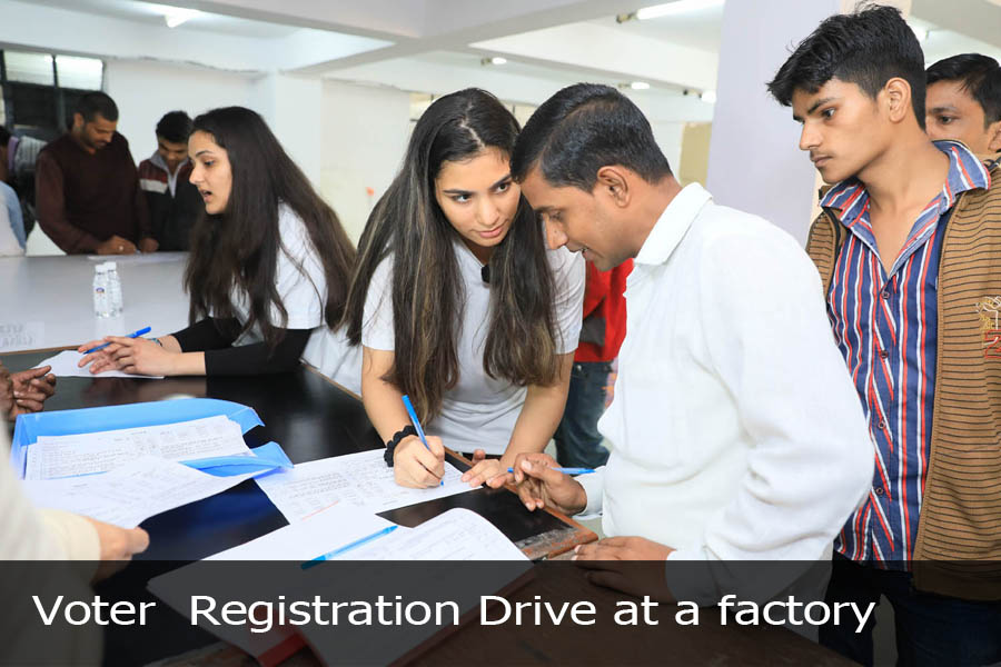Voter Registration Drive at a factory-2