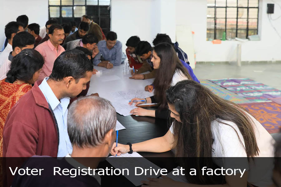 Voter Registration Drive at a factory-3