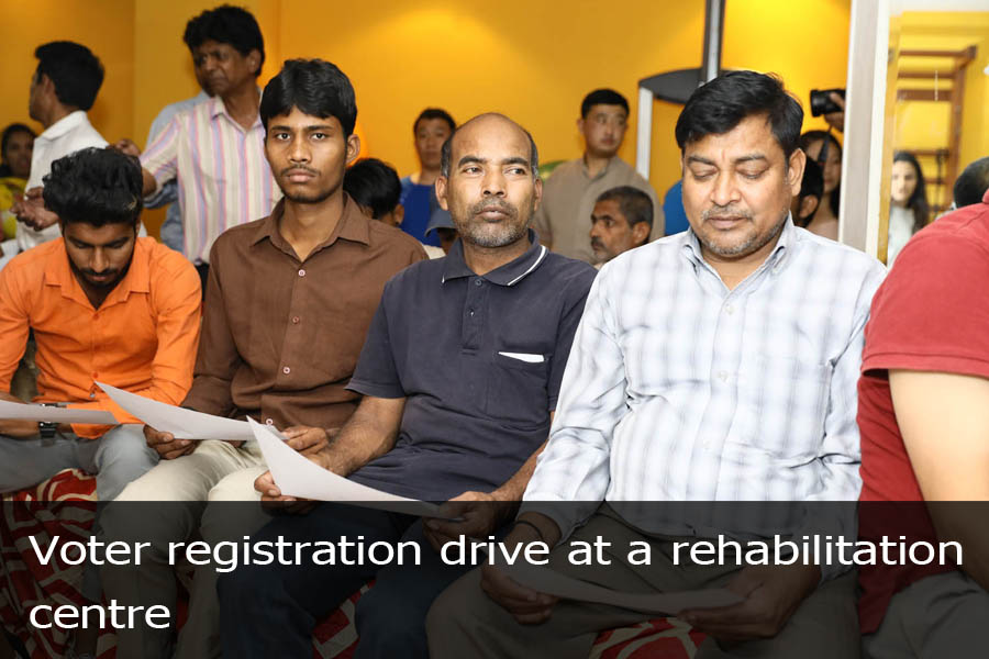 Voter Registration Drive at a factory-4